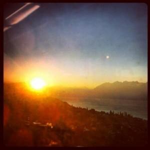 Ein Bild vom Zug aus